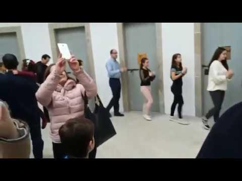 Espectáculo de danza en la vieja cárcel de Lugo