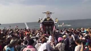 30年  茅ケ崎  浜降祭   本社神輿海上渡御 【禊】。 thumbnail