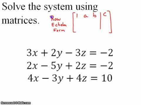 Solve a Larger System of Equations by Matrix Method