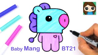 How to Draw BT21 BABY Mang | BTS J-Hope Persona