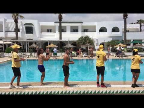 Tunisia. Magic Hammamet Beach. May 2017. Animation. Dance by the pool #2