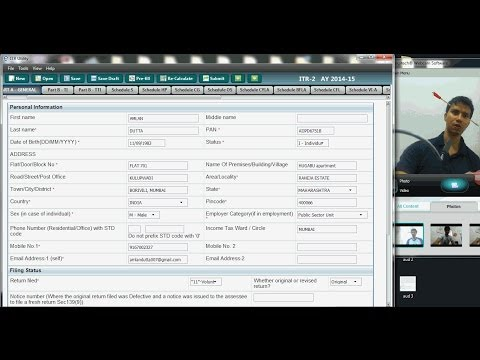 629(CA Practise) How to file return(ITR 2) for Short term Ca