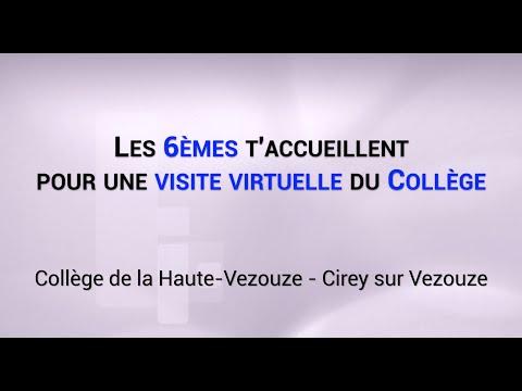 Les 6èmes t'accueillent pour une visite virtuelle du collège de la Haute Vezouze.