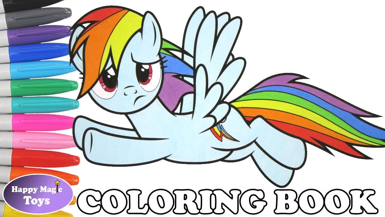 mlp rainbow dash coloring book pages my little pony rainbow dash