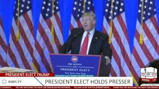Full Speech: President-Elect Donald Trump Holds Press Conference at Trump Tower 1/11/17