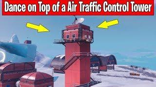 Fortnite Season 7 WEEK 5 Dance on A Air Traffic Control Tower Location