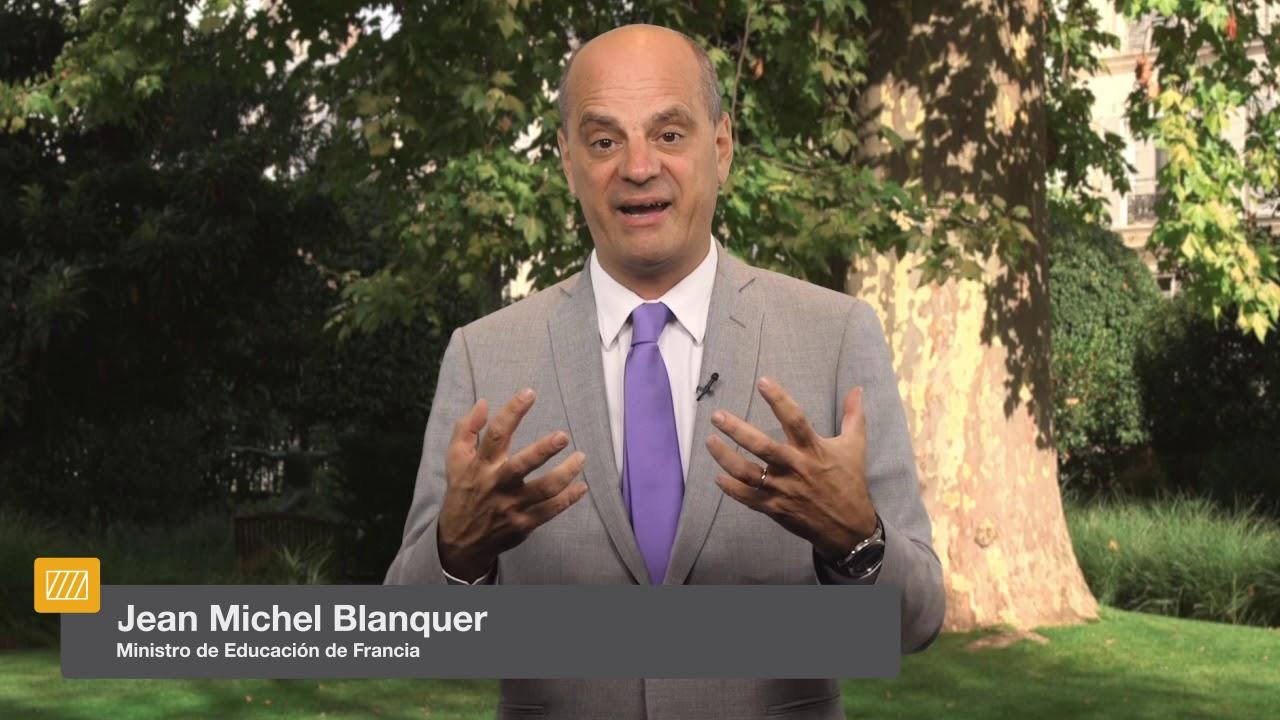 El ministro de Educación de Francia, Jean Michel Blanquer, en la ...