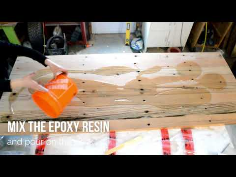 How to make an epoxy resin reclaimed wood desk top