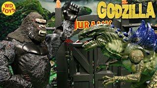 New 1998 Rumble Roar Power Blast Godzilla Vs King Kong Jurassic Park Unboxing Toy Biz