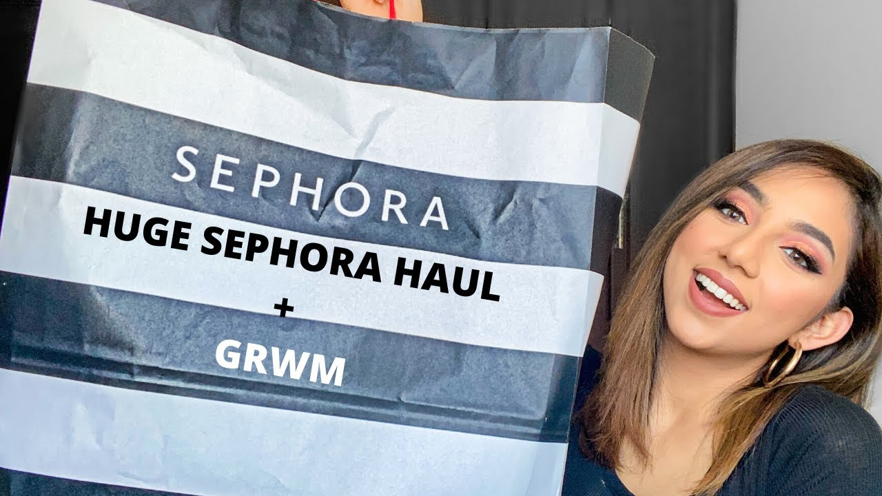 HUGE SEPHORA HAUL + GRWM | #SephoraSquad