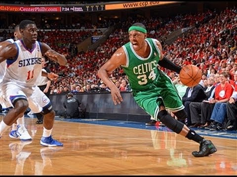 Paul Pierce Dunks On Thaddeus Young