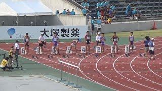 2014全国高校総体 男子100m予選~決勝