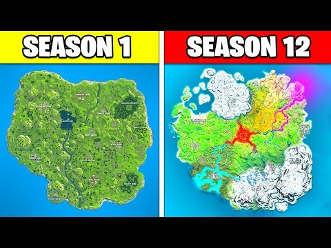 FORTNITE SEASON 12 MAP! (Evolution From Season 1 To Chapter 2 Season 2 Map)