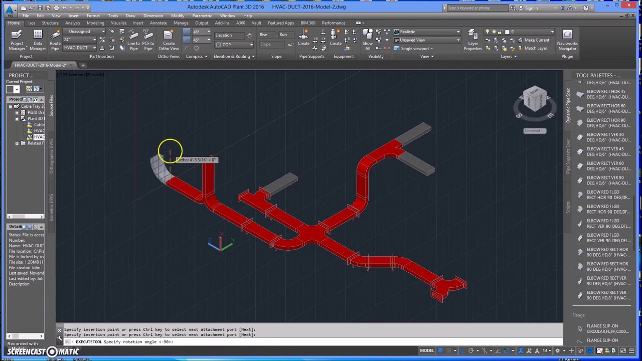small resolution of autocad plant 3d hvac rectangular duct