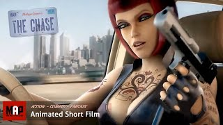 THE CHASE (HD) CGI Film **HOT GIRLS RUNNING FROM THE COPS** 3D Animation Film by Space Patrol