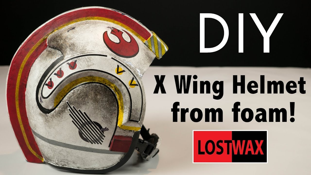 How To Make A Luke Skywalker X Wing Helmet Star Wars Costume Tutorial