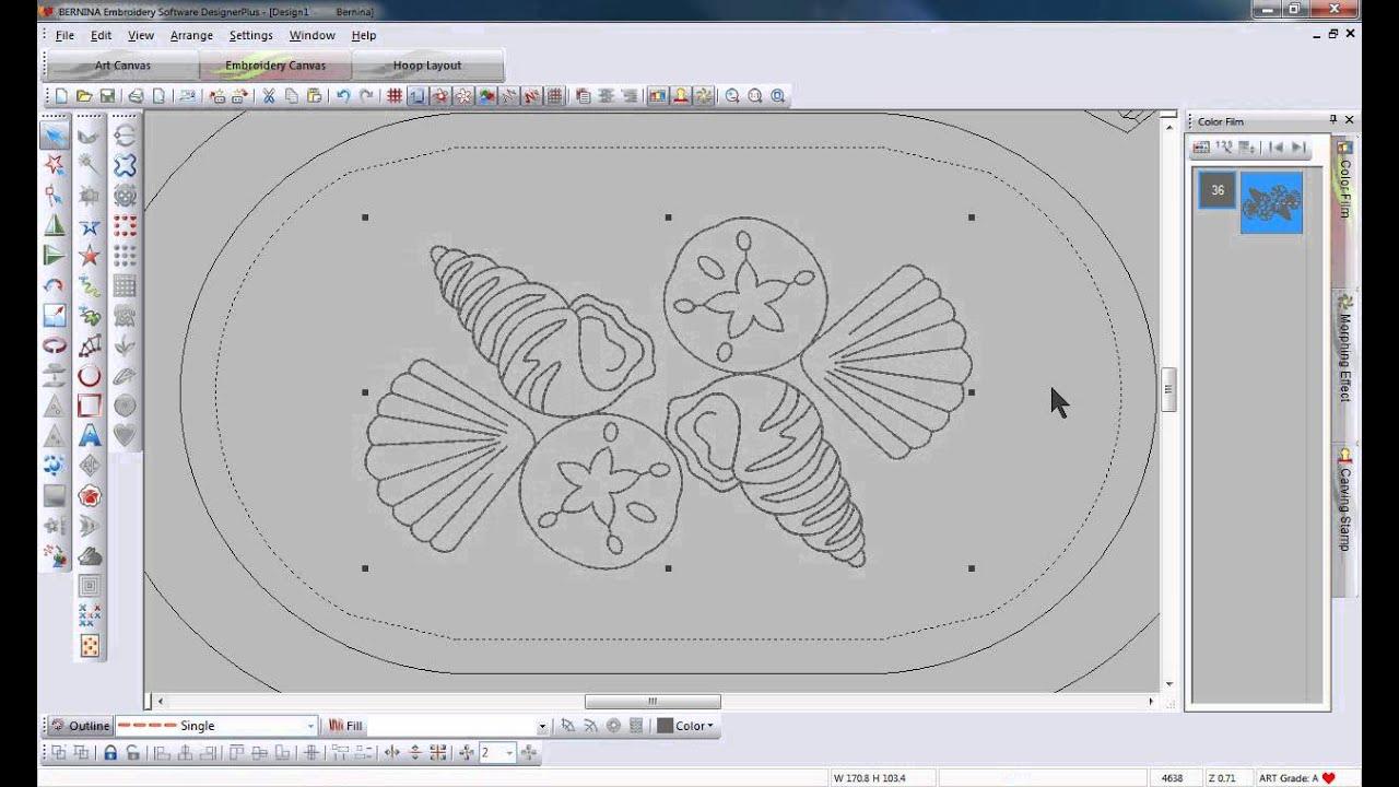 Bernina Embroidery Software 6 Blackwork Run Tool Tip 13 Youtube