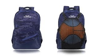 32 Ltr Printed Casual Laptop Basketball Backpack - AC CRAY | Atmos Creek