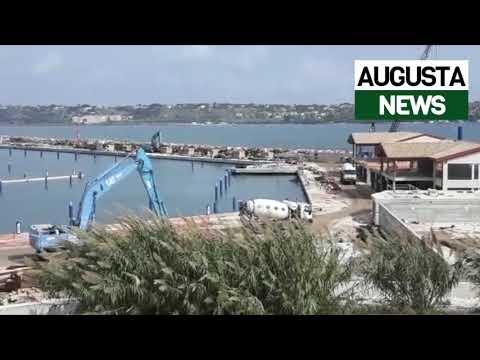 Augusta, proseguono i lavori di realizzazione del porto turistico