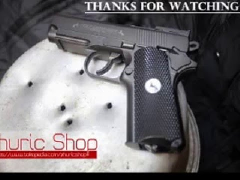 Test Tembak Colt Defender Airsoft By Wingun Model 733 Youtube
