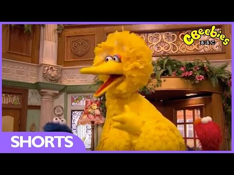 Elmo gets a surprise visit from Big Bird! | The Furchester Hotel | CBeebies