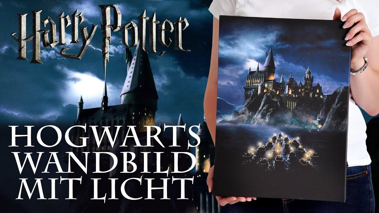 harry potter hogwarts wandbild mit licht youtube. Black Bedroom Furniture Sets. Home Design Ideas