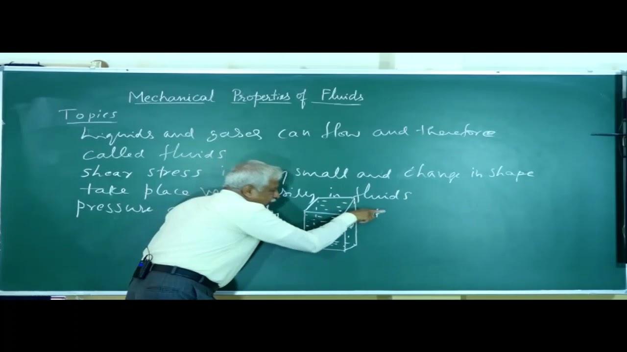 I PUC | PHYSICS | MECHANICAL PROPERTIES OF FLUIDS -  01