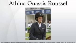 Athina Onassis Roussel