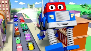 Bahar kamyonu - Süper kamyon Carl araba şehrinde - Süper Kamyon Carl araba şehrinde 🚚 ⍟