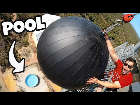 WRECKING BALL Vs. SWIMMING POOL from 45m!