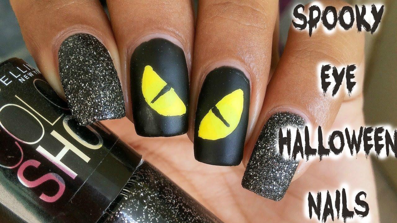 Spooky Eye Halloween Nails - YouTube