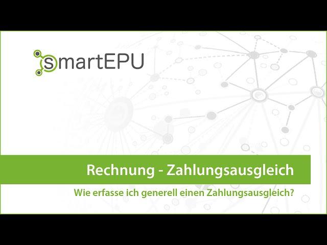 smartEPU: Rechnung Zahlungsausgleich