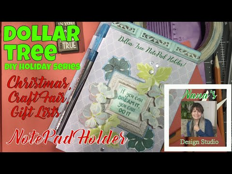 Dollar Tree DIY Notepad Cover:  **DIY HOLIDAY SERIES & CRAFT FAIR IDEA*** Christmas Series Opener