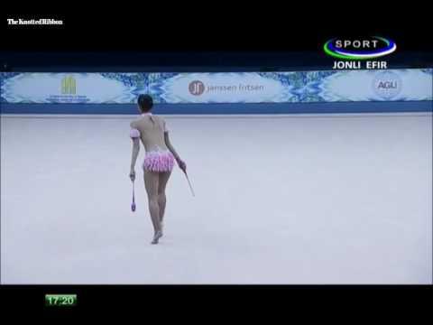 Nabila Evandestiera (INA) Gada Senam Ritmik Kejuaraan Dunia Tashkent 2017