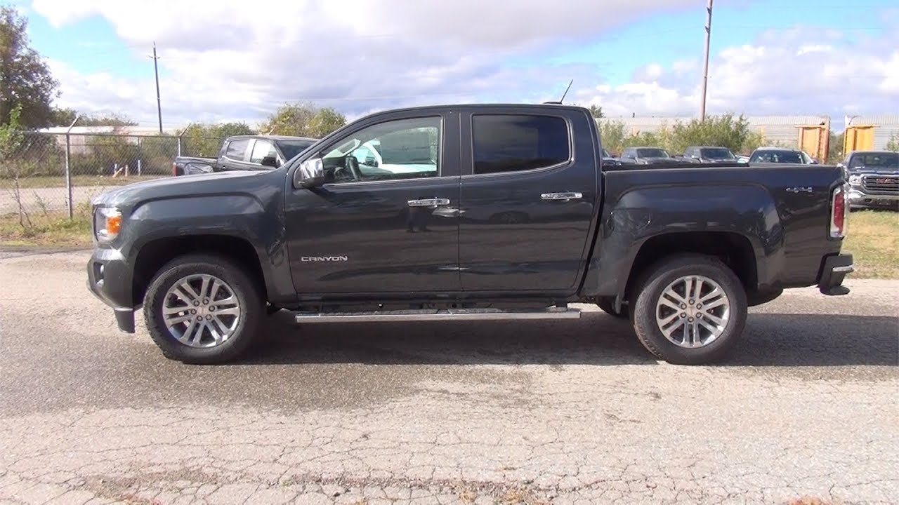 2018 Gmc Canyon Crew Cab Short Box 4 Wheel Drive Slt Dark Slate Metallic