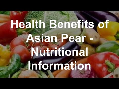 With asian pear nutritional facts