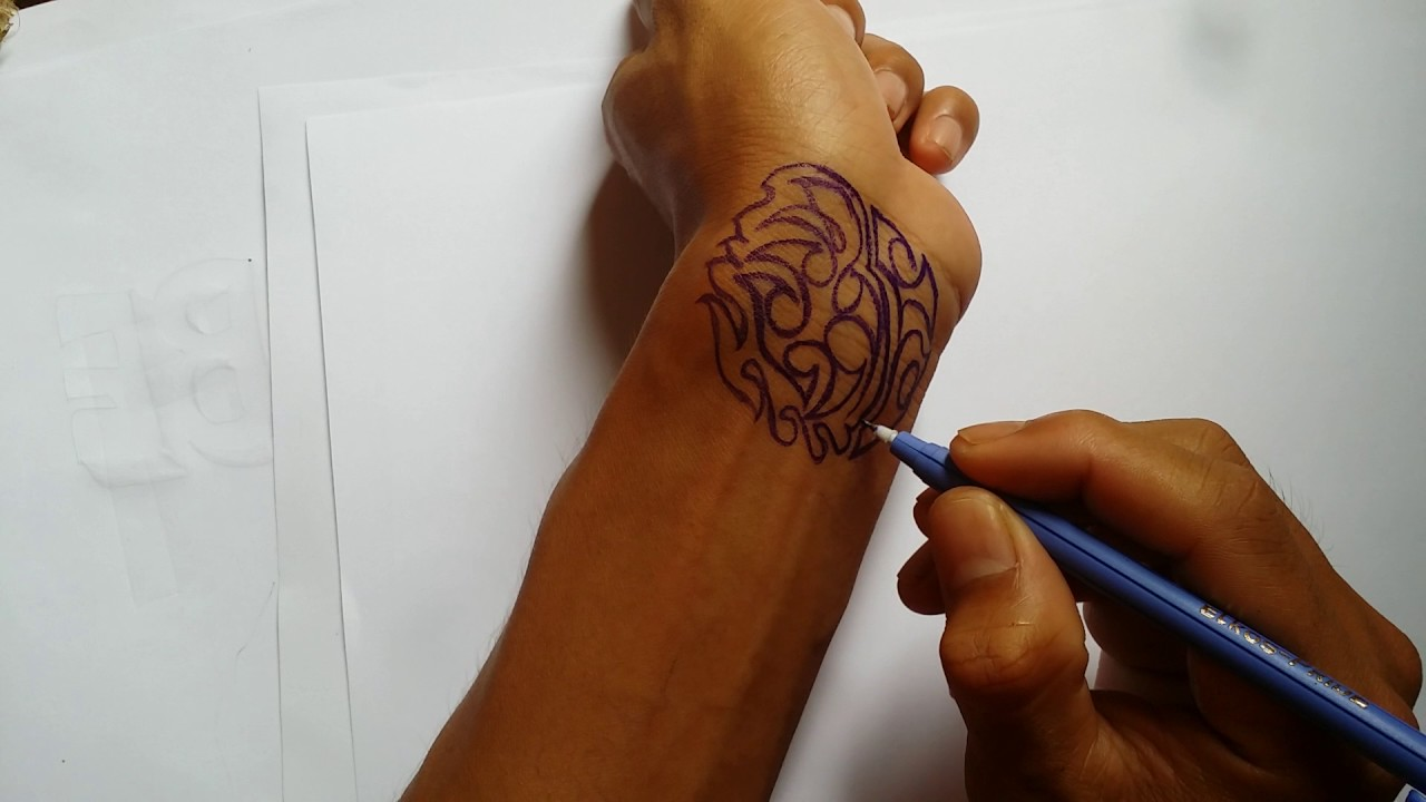 How To Draw A Very Easy Tattoo On Your Hand With Pens Tattoo