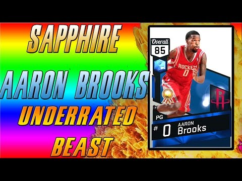 SAPPHIRE AARON BROOKS! MOST UNDERRATED CARD IN 2K17 MYTEAM! COLLECTION REWARDS