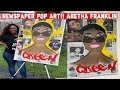 Newspaper (PAPER MACHE) Pop Art Painting : Aretha Franklin Tribute 2018 (Time Lapsed)