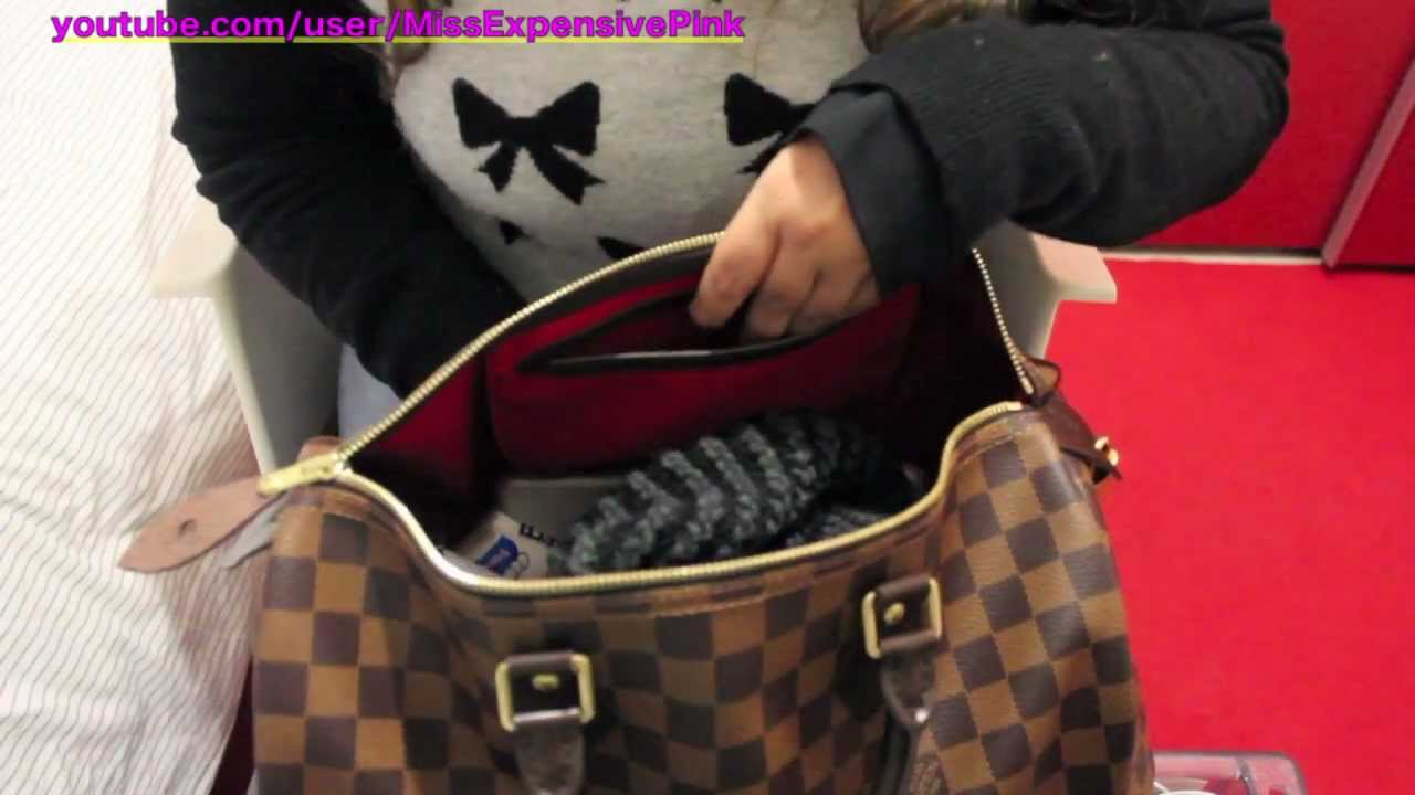 6a9cbe459a5a ❤ MY NEW LOUIS VUITTON SPEEDY 35 DAMIER EBENE - YouTube