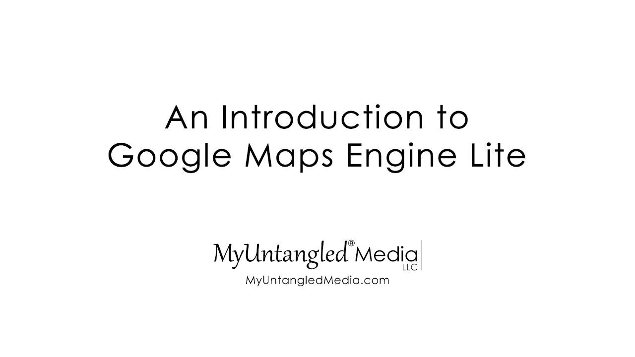 introduction to google maps engine lite youtube. Black Bedroom Furniture Sets. Home Design Ideas
