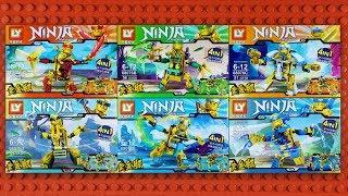 LEGO Ninjago Golden Ninja Minifigures with Golden Mech sets (knock-off) LY 68076