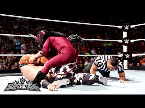 El Torito & Hornswoggle Vs. Heath Slater & Titus O'Neil: WWE Superstars, Aug. 21, 2014