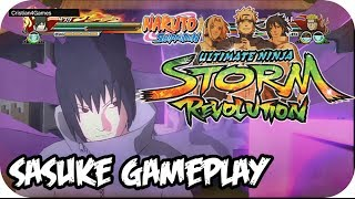 Naruto Shippuden Ultimate Ninja Revolution - » DEMO Sasuke Gameplay « - [HD]