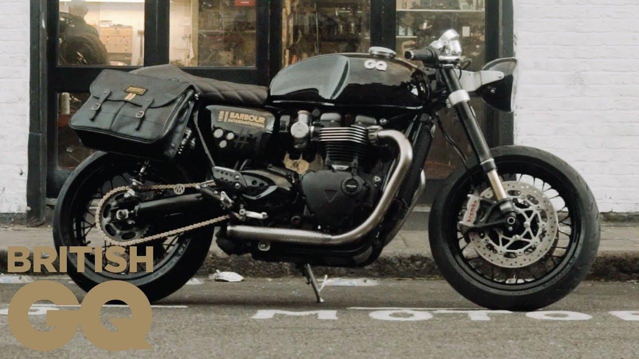 We Made A Triumph Thruxton R Custom Motorbike British Gq Youtube