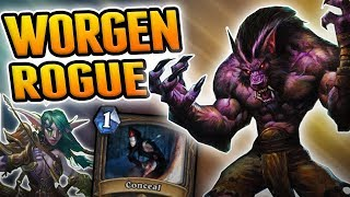 The Worgen OTK Rogue is Theoretically possible | OTK Rogue | Wild Hearthstone Rise of Shadows