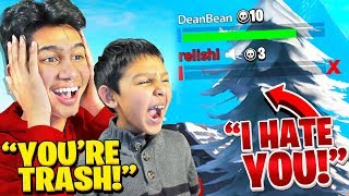 7 Year Old ACTS TOXIC to Teammates while I CARRY them in Fortnite!