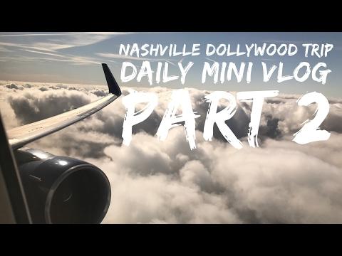 USA Trip Nashville/Dollywood - April 2017 - Daily Mini Vlog Part 2 - Travel Day