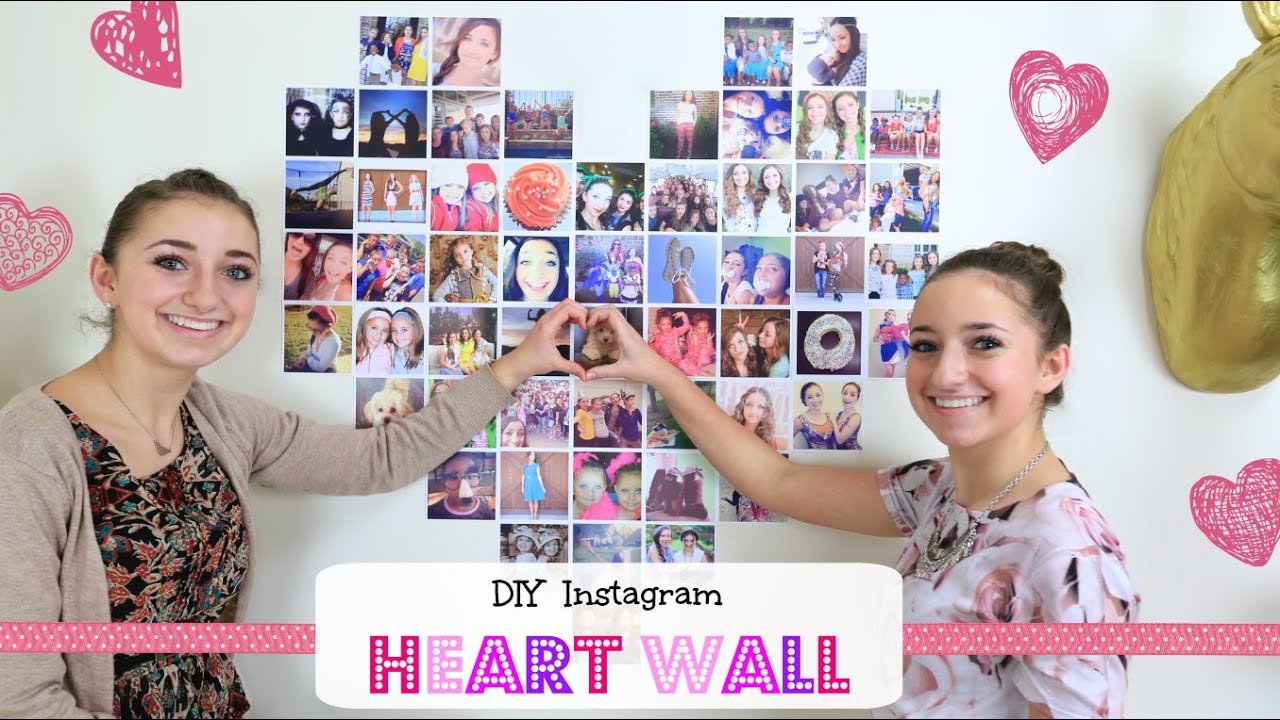 Diy Instagram Heart Wall Valentine S Day Ideas Youtube
