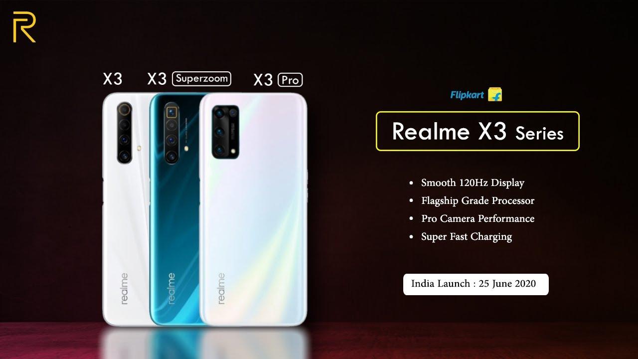 Realme X3 Series India Launch Realme X3 X3 Superzoom X3 Pro Youtube